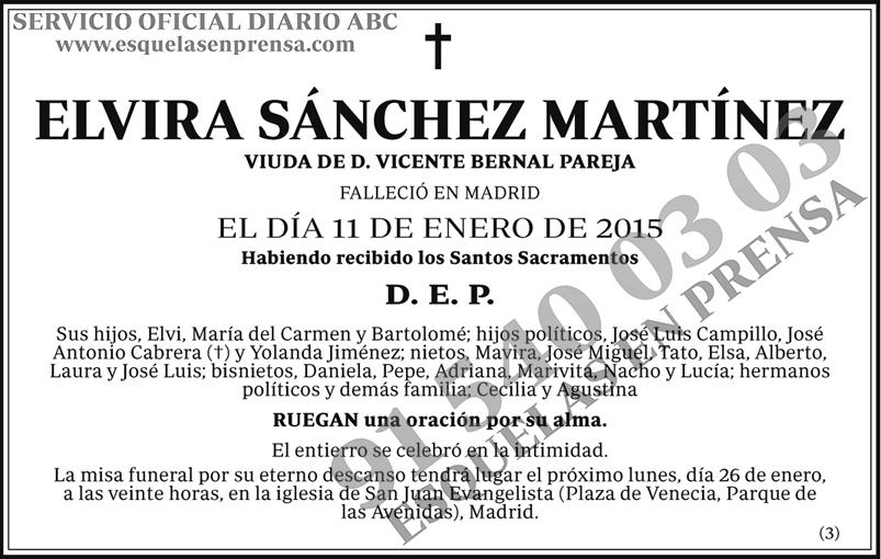 Elvira Sánchez Martínez